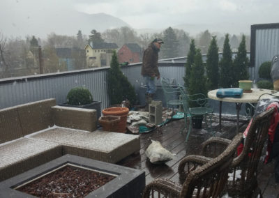 Rooftop Planter Installation - Block M, Downtown Bozeman