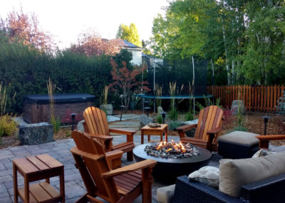 Fire Pit and Patio Landscaping -Bozeman, Montana