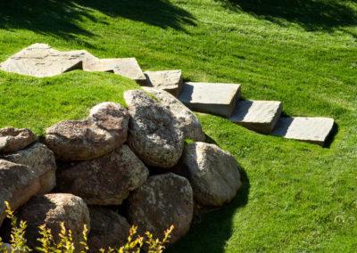 Boulder Walls and Landscapig Steps - Bozeman, Montana