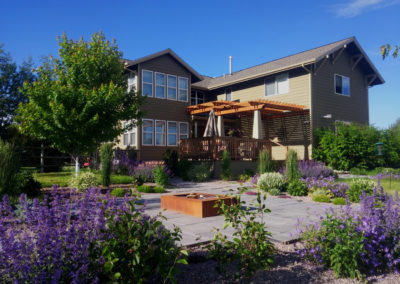 Fire Pit and Modern Landscaping Design - Bozeman, Montana
