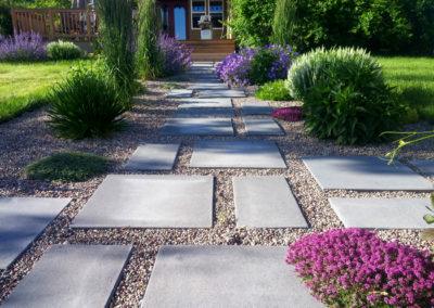 Modern Paver Landscape Design - Bozeman, Montana