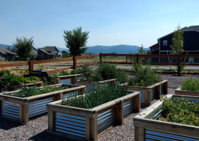Edible Landscaping Raised Planters - Bozeman, Montana Landscape Designer