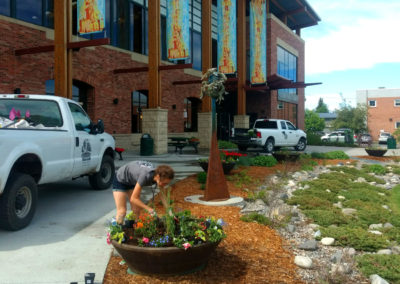 Annual Flower Planters - Bozeman Public Library