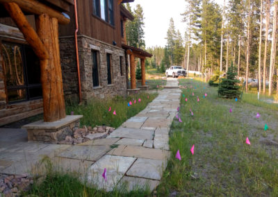 Rustic Flagstone Walk With Wildflower Plugs - Big Sky, Montana