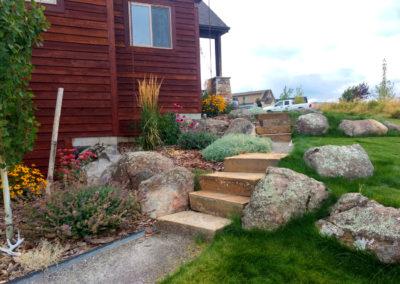 Boulders and Sandstone Steps - Bozeman, Montana
