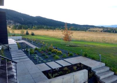 Modern Landscape Design and Flagstone - Bozeman, Montana